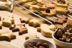 Freshly baked christmas cookies Royalty Free Stock Image