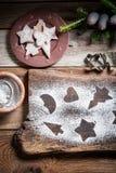 Freshly baked Christmas cookies Stock Photography