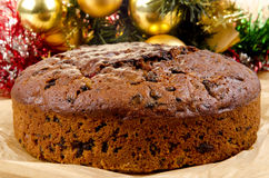 Freshly baked Christmas fruit cake Royalty Free Stock Photos