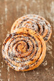 Freshly baked cinnamon rolls Royalty Free Stock Photography