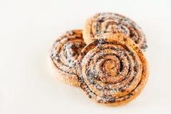 Freshly baked cinnamon rolls Stock Photos