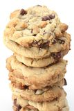 Freshly Baked Cookies. Out of the oven freshly baked chocolate chip cookies royalty free stock photo