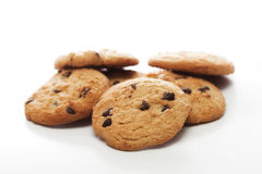 Freshly Baked Cookies. Freshly baked  cookies isolated on white Royalty Free Stock Images