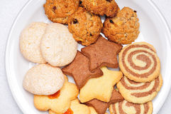 Freshly baked cookies Stock Photos