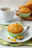Freshly baked corn muffins on the plate Royalty Free Stock Photography