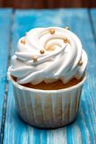Freshly baked cream cupcake royalty free stock images