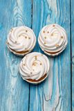 Freshly baked cream cupcake royalty free stock photo