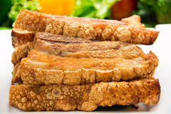 Freshly baked crispy pork belly Stock Photo