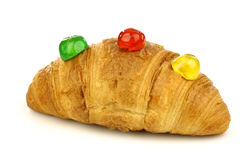 Freshly baked croissant bread Stock Images