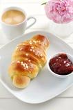 Freshly Baked Croissant Stock Photo