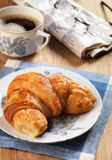 Freshly baked croissant Stock Images