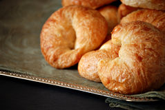 Freshly baked croissants Stock Photography