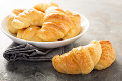 Freshly baked croissants in a bowl Stock Photography