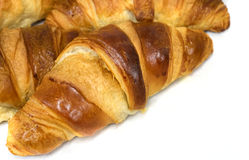 Freshly baked Croissants Stock Photo