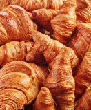 Freshly baked croissants Stock Images