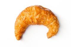 Freshly baked croissants on white background Royalty Free Stock Image