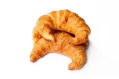 Freshly baked croissants on white background Royalty Free Stock Photo