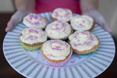 Freshly baked cupcakes Royalty Free Stock Photos