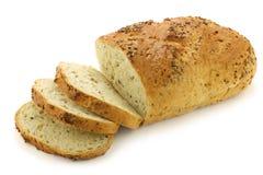 Freshly baked cut loaf of cornbread Stock Photo
