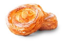 Freshly baked delicious sweet buns Stock Photo