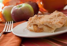 Freshly Baked Dutch Apple Pie Stock Photo