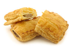 Freshly baked Dutch traditional sausage roll Stock Images