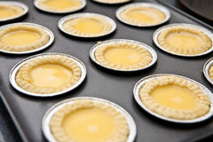freshly baked egg tart Stock Photography