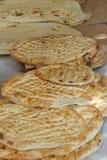 Freshly baked flatbread Royalty Free Stock Image