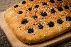 Freshly Baked Focaccia Stock Photography