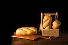 Freshly baked French baguette Stock Images