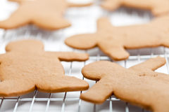 Freshly Baked Gingerbread Men Stock Photo