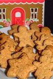 Freshly baked gingerbread in various shapes. Raw vegan Stock Photo