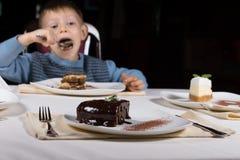 Freshly baked glazed chocolate cake Stock Photos