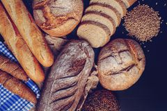 Free Freshly Baked Handmade Breads Stock Photography - 135205592