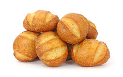 Freshly baked hard bread rolls Stock Images