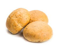 Freshly baked healthy gluten-free delicious wholemeal buns with Stock Photos