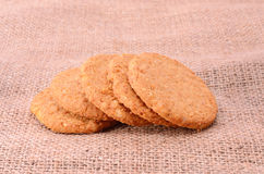 Freshly baked home made cookies Stock Images