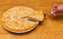 Freshly baked homemade apple pie Royalty Free Stock Photography