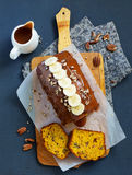 Freshly baked homemade banana bread Stock Images