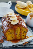 Freshly baked homemade banana bread Royalty Free Stock Photography