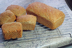 Freshly baked wholegrain spelt bread. Royalty Free Stock Photography