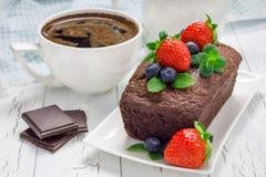 Freshly baked homemade chocolate banana bread (cake) Stock Photos