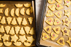 Freshly baked homemade Christmas cookies royalty free stock photos