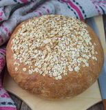 Freshly baked homemade oatmeal bread Royalty Free Stock Photography