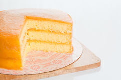 Freshly baked homemade orange cake Stock Photo