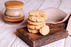 Freshly baked homemade peanut butter cookies Royalty Free Stock Image