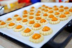 Freshly baked homemade pineapple tarts Royalty Free Stock Photos