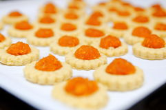 Freshly baked homemade pineapple tarts Royalty Free Stock Images