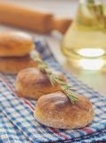Freshly baked homemade scones. Selective focus on the front Stock Image