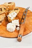 Freshly baked, homemade sun dried tomato and goat cheese biscotti Royalty Free Stock Photos